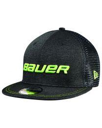 Bauer Color Pop 950 Cap Black and Lime - Senior
