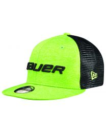 Bauer Color Pop 950 Cap Black and Lime - Youth
