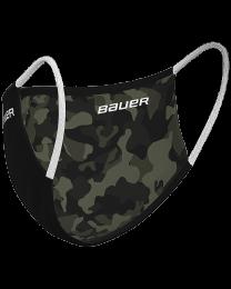 Bauer Reversible Protection Face Mask - Black Camo
