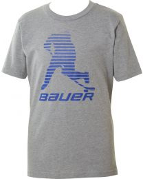 Bauer Sapphire Color Pop Short Sleeve Tee Grey - Youth