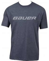 Bauer Core Short Sleeve Tee Heather Navy - Youth